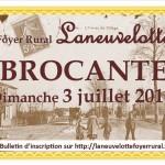 brocante 3 juillet 2016 Laneuvelotte