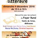 café littéraire 4 décembre 2016